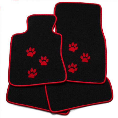 ver.Farben Auto Fußmatten Pfoten für CITROEN Xsara Coupe 97-06 4tlg.