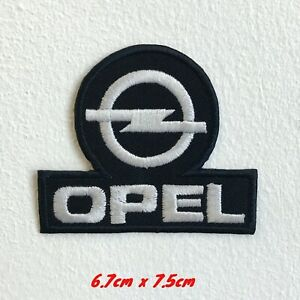 Opel Automobiles motorsports black logo Iron Sew on Embroidered Patch#1562B