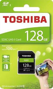 Toshiba-128GB-SDXC-UHS-I-tarjeta-de-memoria-N203-de-alta-velocidad-clase-10-100MB-s