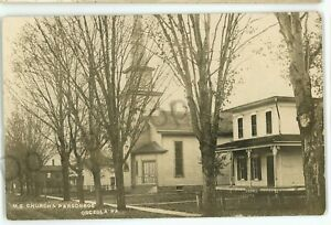 rppc me church parsonage osceola pa street view tioga county real photo postcard ebay ebay