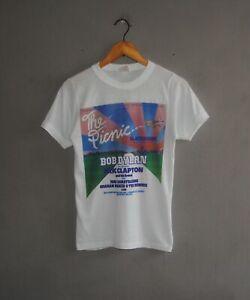 Vintage 1978 The Picnic at Blackbushe Bob Dylan Eric Clapton 70s Concert T shirt