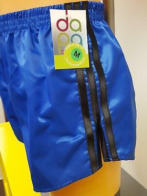 Retro Nylon Satin Football Shorts S White 4XL Royal Blue