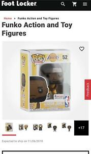 timeless design 6bb99 81a42 Details about Funko POP! LeBron James # 52 Los Angeles Lakers Gold Jersey  Footlocker Exclusive