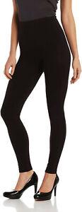 HUE-Women-039-s-Ultra-Tummy-Shaping-Leggings-sz-XL-X-Large-16-18-Black-Pants
