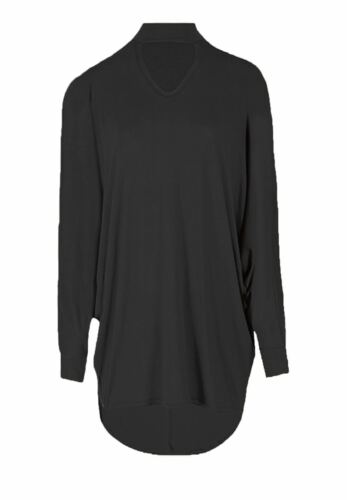 New Womens Ladies Oversized Baggy Chocker V Neck Batwing Top Shirt Size 8-26