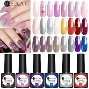 UR-SUGAR-7-5ml-UV-Gel-Polish-Glitter-Shiny-Soak-Off-Gel-Varnish-Nail-Art-Decors