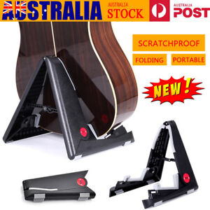 Folding-Electric-Acoustic-Bass-Guitar-Stand-A-Frame-Floor-Rack-Holder-AU-Stock