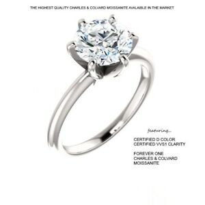1-00-Carat-6-5mm-D-VVS1-CERTIFED-Moissanite-Ring-in-14K-Gold-Charles-amp-Colvard