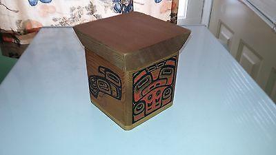 West Coast , First Nations Tse-Kya Bent Box. Designed by W. K. Joseph.