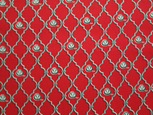 OHIO STATE UNIVERSITY BUCKEYES NUT COTTON FABRIC FQ