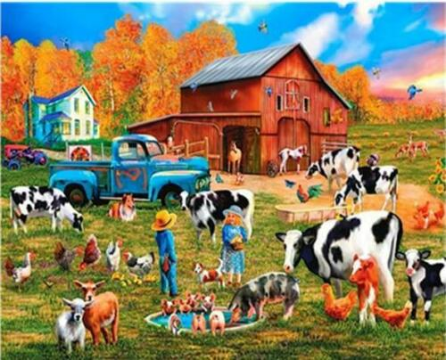 Van-Go Paint-By-Number Kit for Children The Funny Farm