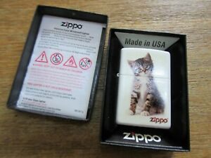 Original Zippo Katze Katzenjunges Cat Puppie Lighter Sturmfeuerzeug Made in USA