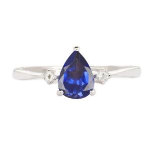 9CT WHITE GOLD BLUE TOPAZ /& DIAMOND CLUSTER ENGAGEMENT RING SIZE JKLMNOPRST
