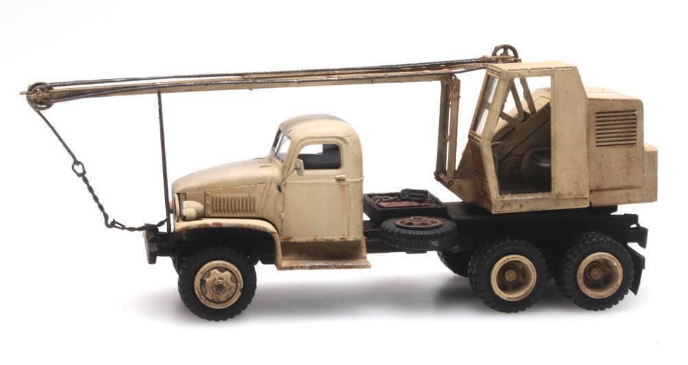 Artitec 387.344 GMC 353 grúa vagones H0 1  87 Modelo grúa la resina