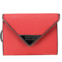 Rebecca Minkoff Molly Metro Saffiano Leather Wallet - Blood Orange on sale