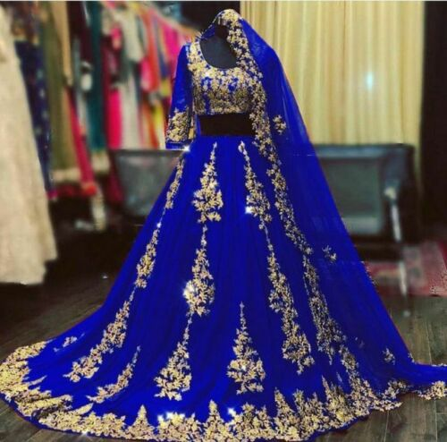 Choli Lehenga Indian Embroidery Diamonds Lengha Party Wear Sari Pakistani Lehnga
