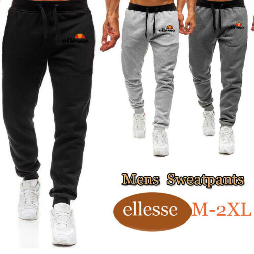 New Mens Slim Fit Tracksuit Bottoms Joggers Jogging GYM Sports Trousers