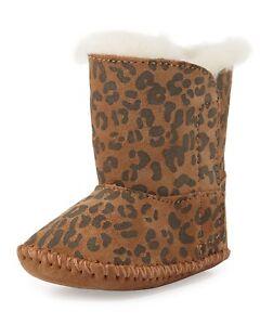 b090db398af Details about New!! Infant Uggs Cassie Leopard Brown Boots 0-6 months -  Model # 1001781