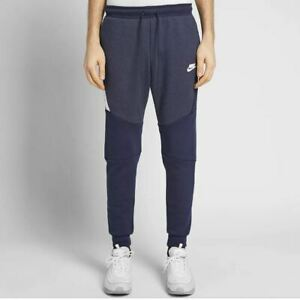 48c67c1e219c NEW MENS L XL NIKE TECH FLEECE TF JOGGERS SLIM TAPER PANTS BLUE ...