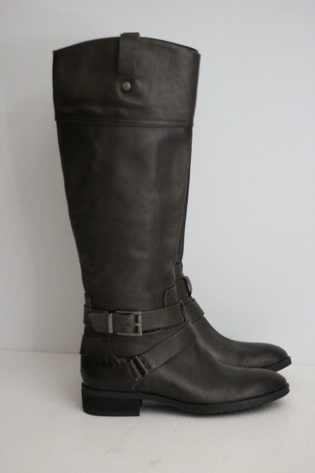 NEW Vince Camuto 'Pazell' Tall Buckle Strap Boot - Dark Grau - Größe 5.5 M