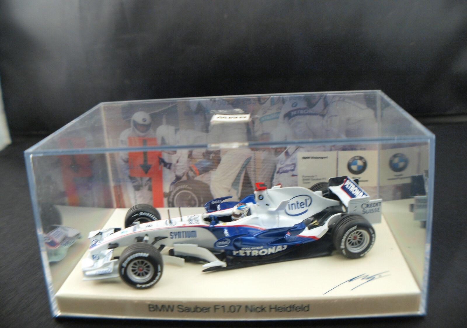Minichamps bmw sauber f1.07 team Heidfeld  9 new case box mib 1 43