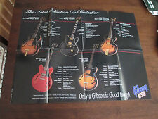 GIBSON GUITAR POSTER - 18 X 24 - 1993 VINTAGE - ES335 ES135 ES165 BB KING