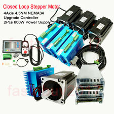 4axis Closed Loop Stepper Motor Nema34 45nm Driver Controllerpower Supply Kit