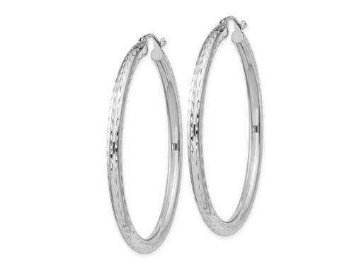 3mm Details about  /Large Hoop Earrings in Sterling Silver
