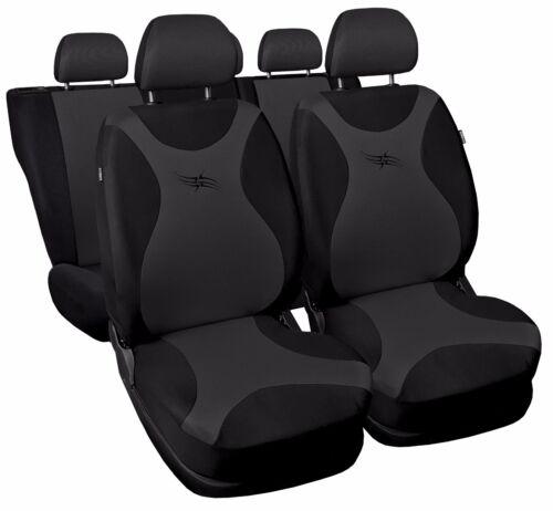 Car seat covers fit Skoda Rapid black//grey full set