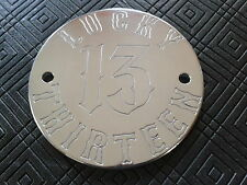 CNC ENGRAVED LUCKY THIRTEEN TIMER IGNITION COVER 2 HOLES  BUELL HARLEY DAVIDSON