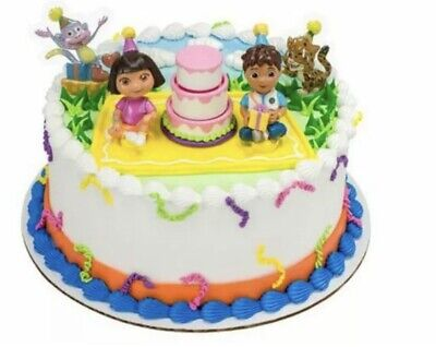 Admirable Dora The Explorer Birthday Celebration Cake Decoration Brand New Birthday Cards Printable Nowaargucafe Filternl