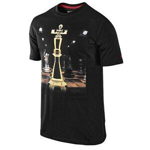 "Lebron T Shirt Nike LeBron James ""King Piece"" Dri-Fit T-Shirt Black Men's 2XL ..."