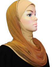 hooded Metallic scarf Instant hijab Slip On Instant shawl WRAP INSTANT Headcover