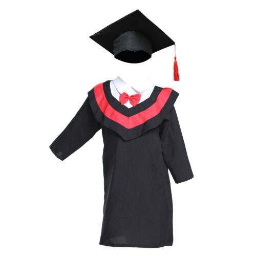 Kids Boys Girl Nursery Graduation Gown Cloak/&cap Costume Choir Robe Kindergarten
