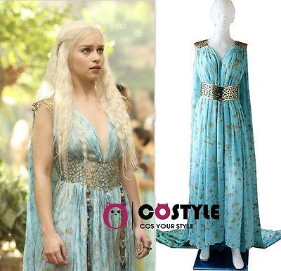 Halloween  Game Of Thrones Cosplay Daenerys Targaryen Qarth Dress Party Costume
