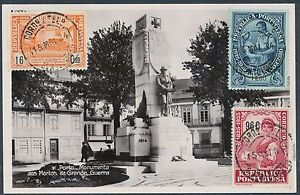 1934-Portugal-RPPC-Postcard-cover-Monument-to-the-WW-1-Dead