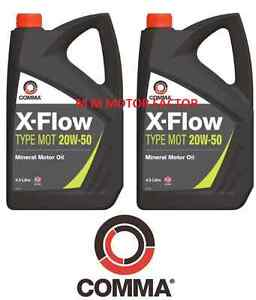 Comma-X-Flow-20W-50-Mineral-Engine-Oil-High-Mileage-Engines-2-x-4-5L-9-Litres