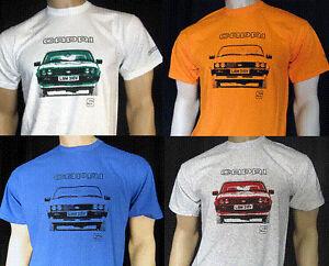 FORD-Capris-Mk3-Camiseta-blanco-gris-rojo-Azul-Naranja-5-Tamanos