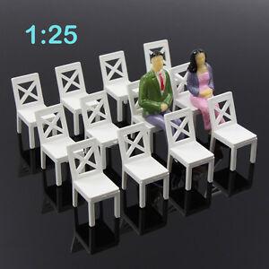 ZY16025-12pcs-Model-Train-Railway-Leisure-Chair-Settee-Bench-Scenery-1-25-Scale