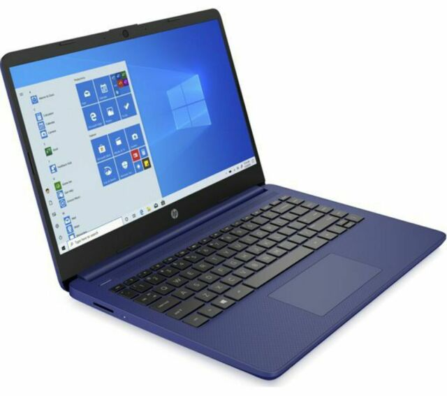 GradeB - HP Stream 14s-fq0509sa 14in Blue Laptop - AMD A3020e 4GB RAM 64GB eMMC