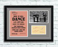 The Beatles Concert Poster and Autographs Memorabilia Poster 1961 John Lennon