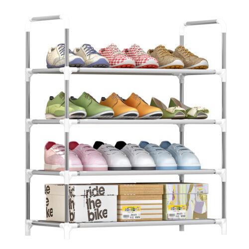 4-Tier Shoe Rack Shoe Tower Shelf Storage Organizer Cabinet Stackable P9D7