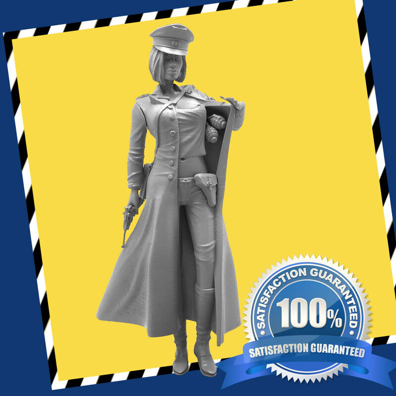 1 16TH German Female Officer Grenade Model Kit Scene World War II