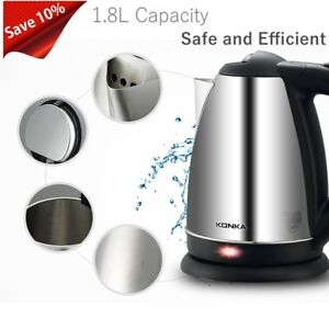 KONKA-1-8L-Stainless-Steel-Electric-Water-Kettle-Safety-Auto-off-Quick-EU-Plug-B