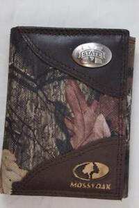 ZEP PRO Mississippi State  MOSSY OAK Camo Trifold Wallet TIN GIFT BOX
