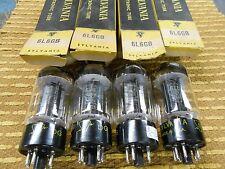 Sylvania Black Plate 6L6GB Vacuum Tube Quad NOS Matching Date Codes Strong!!