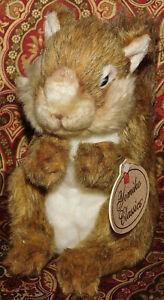 8-034-Russ-Yomiko-Classics-Realistic-SQUIRREL-Bean-Plush-Stuffed-Animal-Toy-Lovey