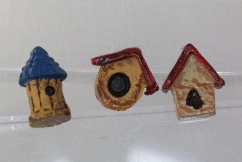 wohl um 1980//90 bunte Vogelhäuschen Hübsches Kinderknopf-Set