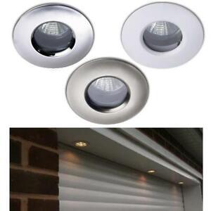 buy popular 2efc9 3b9f0 Details about 6 X IP65 SOFFIT OUTDOOR / BATHROOM SHOWER DOWNLIGHTS HALOGEN  / LED - NO LAMP