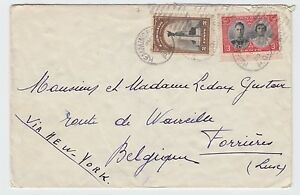 Royal Visit 2c+3c UPU 1st ounce surface rate ** BELGIUM ** 1939 CANADA cover